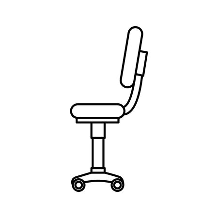 office chair equipment isolated icon vector illustration design Stock Vector - 133850838