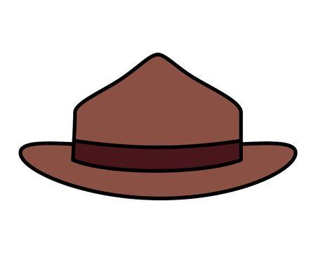 canadian ranger hat uniform icon vector illustration design Foto de archivo - 133850886
