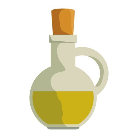 jar with olive oil icon vector illustration design Banque d'images - 133850921