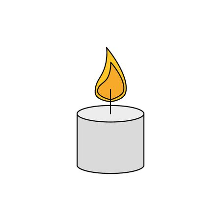 paraffin candle with flame icon vector illustration design Фото со стока - 133851054