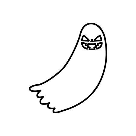 halloween ghost mystery isolated icon vector illustration design Çizim