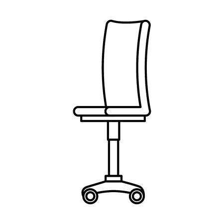 office chair equipment isolated icon vector illustration design Banque d'images - 133863384