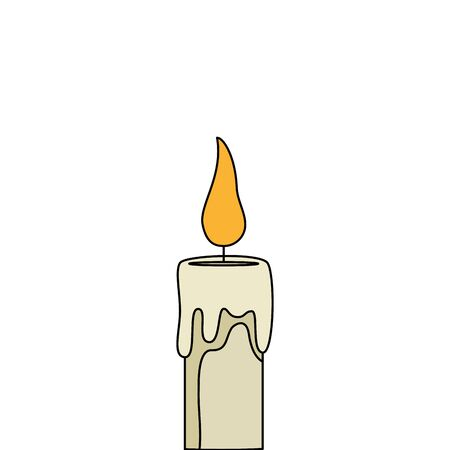 religious candle fire isolated icon vector illustration design Vectores