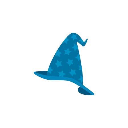 hat magician fantastic isolated icon vector illustration design Ilustração