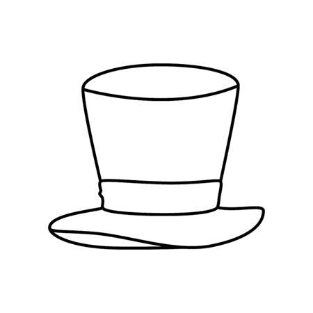 Chapeau haut assistant icône isolé conception d'illustration vectorielle