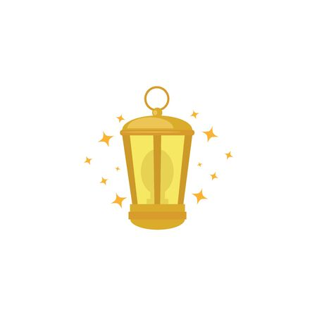 kerosene lantern equipment isolated icon vector illustration design