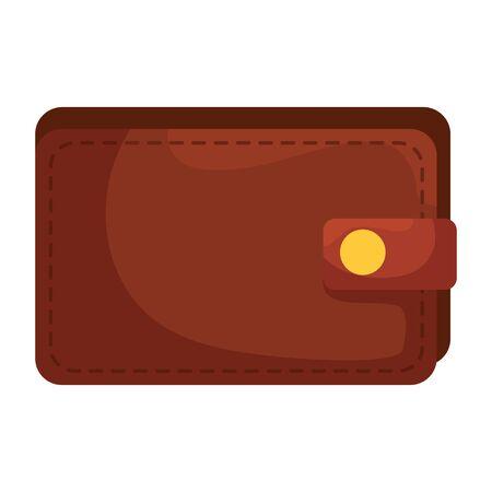 wallet money financial isolated icon vector illustration design Ilustración de vector