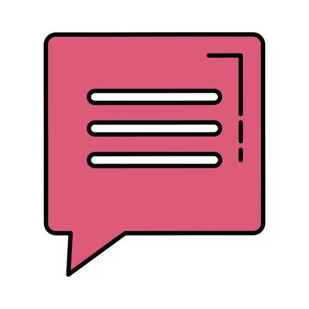 speech bubble message icon vector illustration design Illusztráció