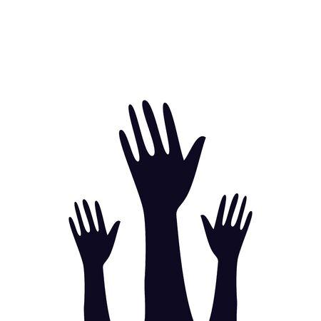 hands of zombie for halloween vector illustration design Ilustração