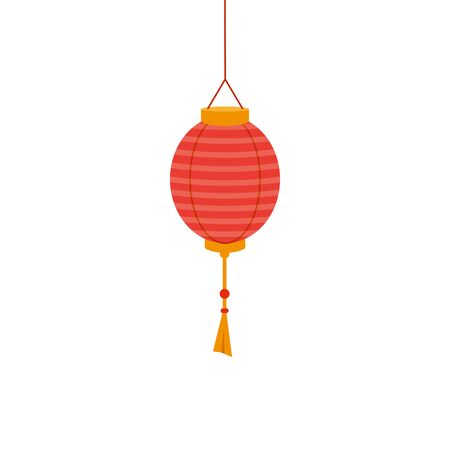 chinese decorative lamp hanging icon vector illustration design Stock fotó - 133862941