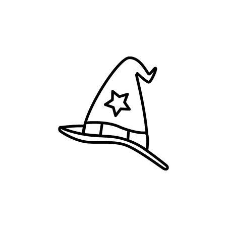 hat magician fantastic isolated icon vector illustration design Ilustrace