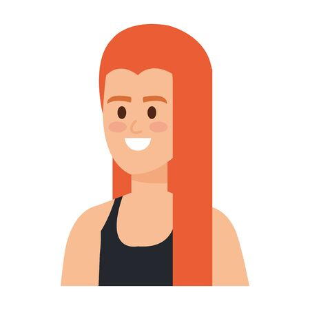 young woman avatar character vector illustration design 일러스트