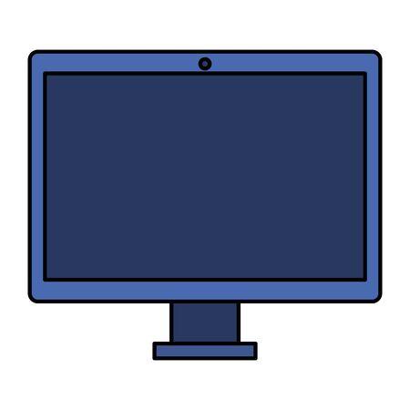 computer desktop technology isolated icon vector illustration design Stock Vector - 133855745