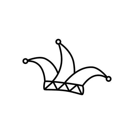 Sombrero joker fantástico icono aislado diseño ilustración vectorial