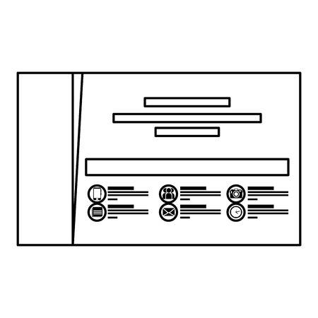 company card publicity icon vector illustration design Foto de archivo - 134023536
