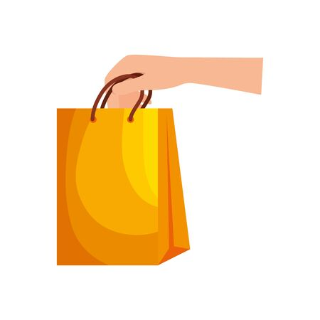 hand lifting shopping bag icon vector illustration design Stock fotó - 134023546