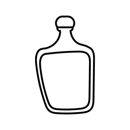 tequila bottle mexican drink icon vector illustration design