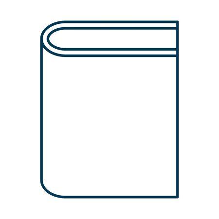 education text book isolated icon vector illustration design Illusztráció
