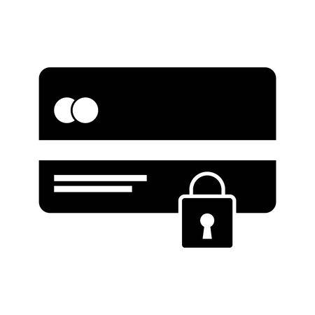 credit card money with padlock vector illustration design 向量圖像
