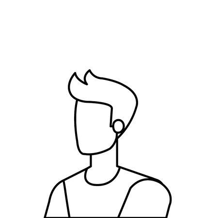 young and casual man character vector illustration design Illusztráció