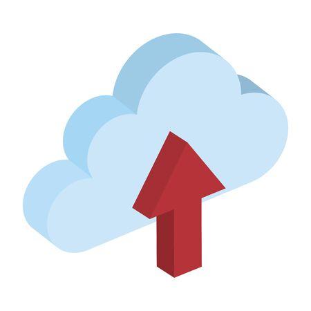 cloud computing with data upload vector illustration design Illusztráció