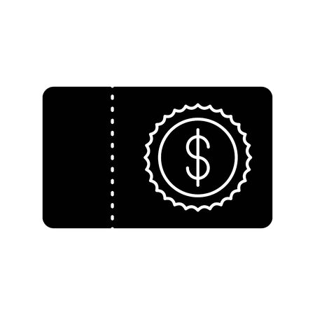 check bank note with money symbol vector illustration design