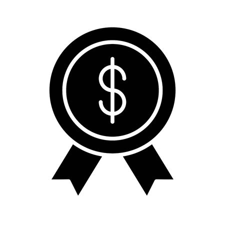 medal commercial with money symbol vector illustration design