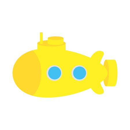cute baby toy submarine isolated icon vector illustration design Illustration