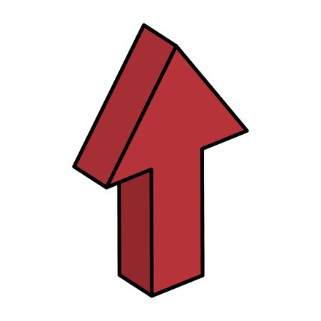 arrow up direction isolated icon vector illustration design Vektorové ilustrace