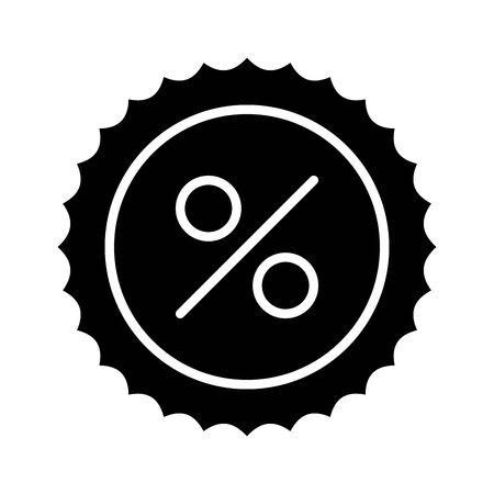 commercial seal stamp with percent symbol vector illustration design