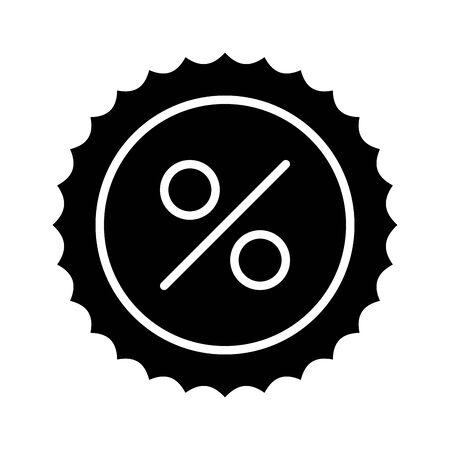 commercial seal stamp with percent symbol vector illustration design Reklamní fotografie - 133898460