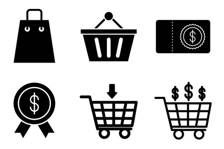 bundle of money and commerce icons vector illustration design Reklamní fotografie - 133898504