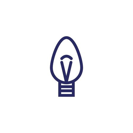 christmas bulb light isolated icon vector illustration design