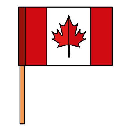 canadian flag celebration day icon vector illustration design Reklamní fotografie - 133981992