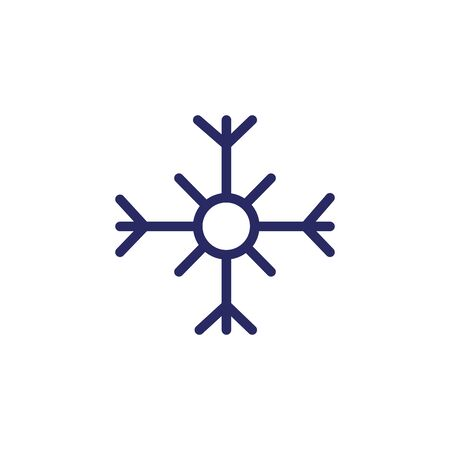 christmas snowflake line style icon vector illustration design