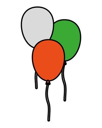 balloons helium floating decorative icons vector illustration design Illusztráció