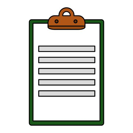 clipboard checklist document isolated icon vector illustration design  イラスト・ベクター素材