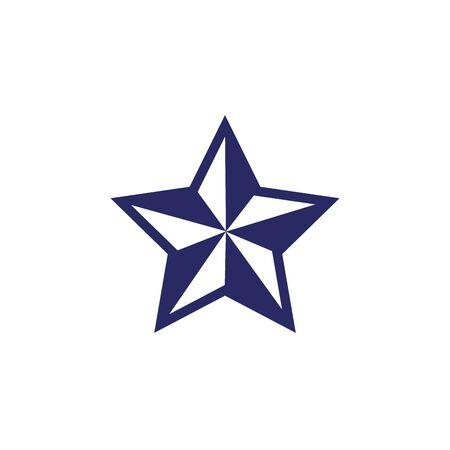 merry christmas star decorative icon vector illustration design
