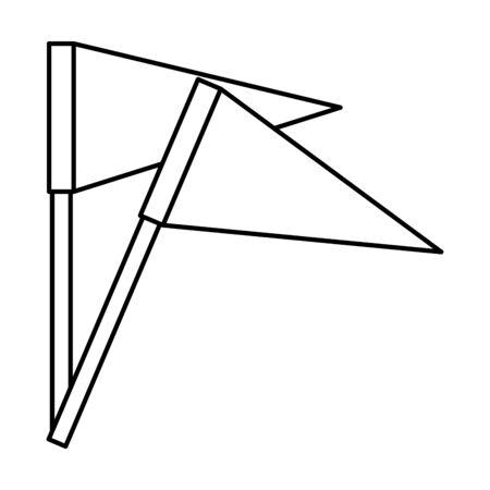 flags potition mark icon vector illustration design Reklamní fotografie - 133907005