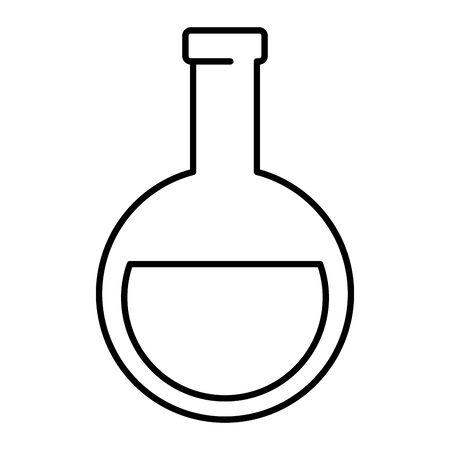 tube test flask laboratory supply vector illustration design