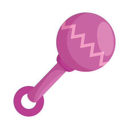 baby maraca pacifier isolated icon vector illustration design