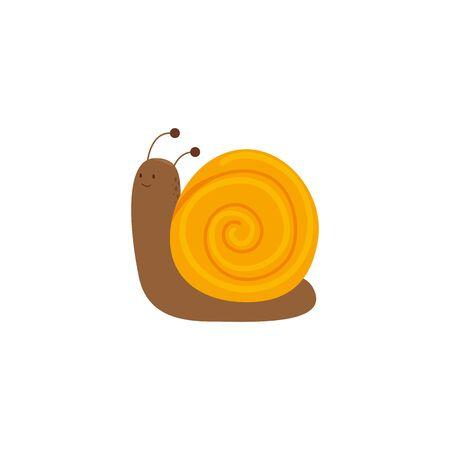 cute snail garden animal icon vector illustration design