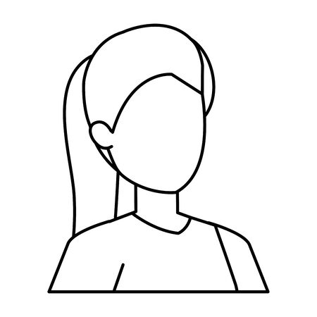 cute young woman avatar character vector illustration design Foto de archivo - 133907348
