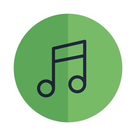 music note button isolated icon vector illustration design