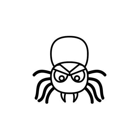halloween spin insect geïsoleerd pictogram vector illustratie ontwerp