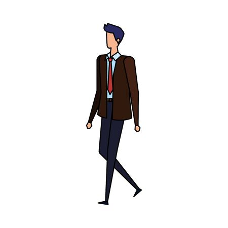 elegant businessman worker avatar character vector illustration design Illusztráció