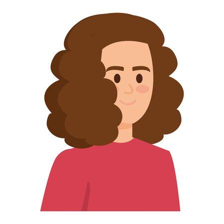 young woman female character icon vector illustration design Foto de archivo - 133907504