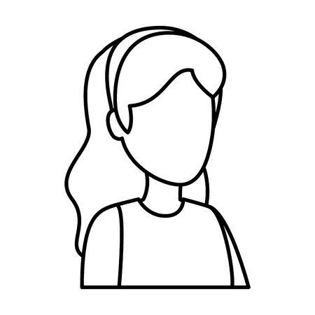 cute young woman avatar character vector illustration design Foto de archivo - 133907534