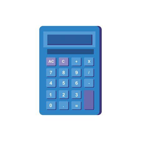 calculator math device isolated icon vector illustration design