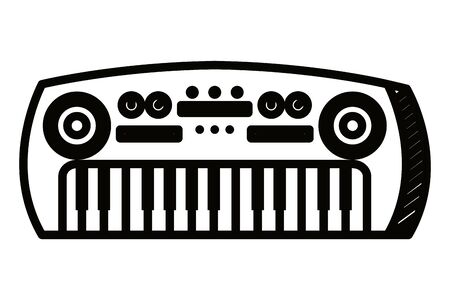 synthesizer musical instrument isolated icon vector illustration design Illustration